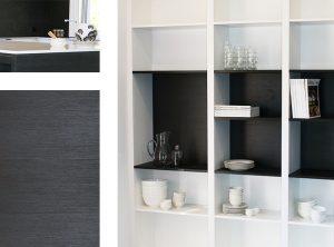 kitchen renovations Brisbane, black & white theme, DbyD