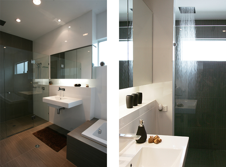 bathroom renovations Brisbane, DbyD, Bulimba, bathroom niche, floating vanity
