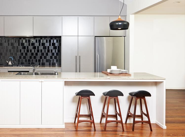 Bespoke kitchen design, white & grey colour palette