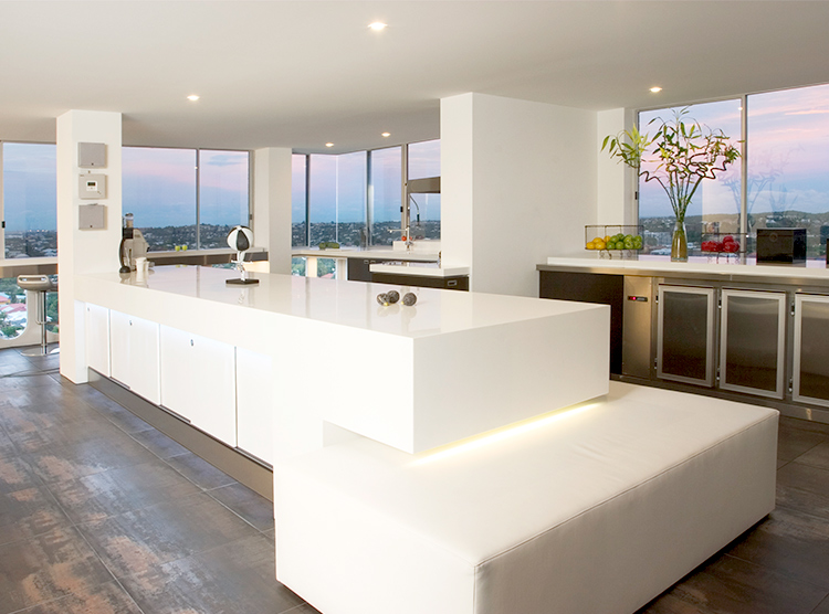 new kitchens Brisbane, solid surface benchtops, island design