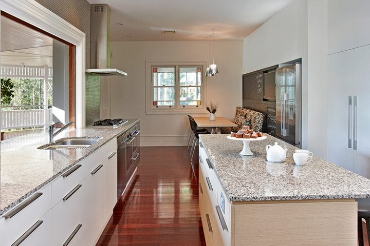 Kenmore Hills kitchen makeover, white & timber design