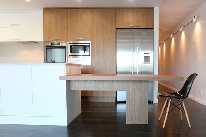 contemporary kitchen makeover Brisbane St Lucia, Caesarstone benchtop
