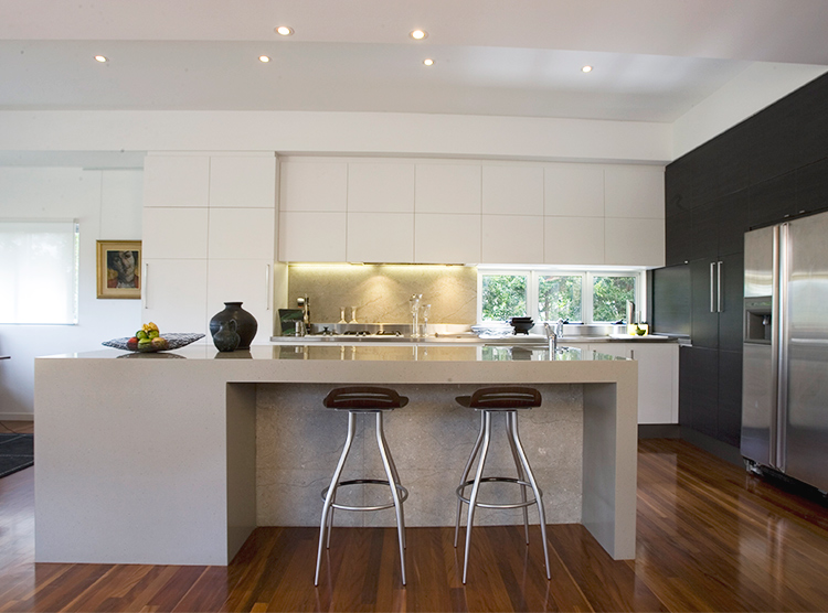 kitchen designers Brisbane, solid surface island, corian benchtop