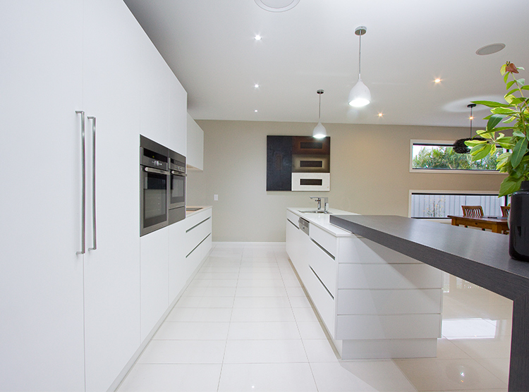 kitchen renovation Brisbane, minimalist design, architecturally detailed