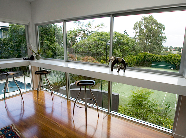 joinery Brisbane, window shelf design, custom joinery