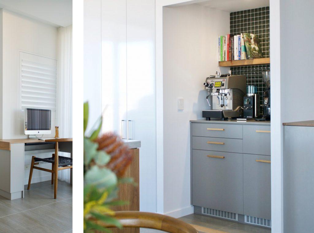 apartment renovation, coffee nook design, DbyD Brisbane Teneriffe