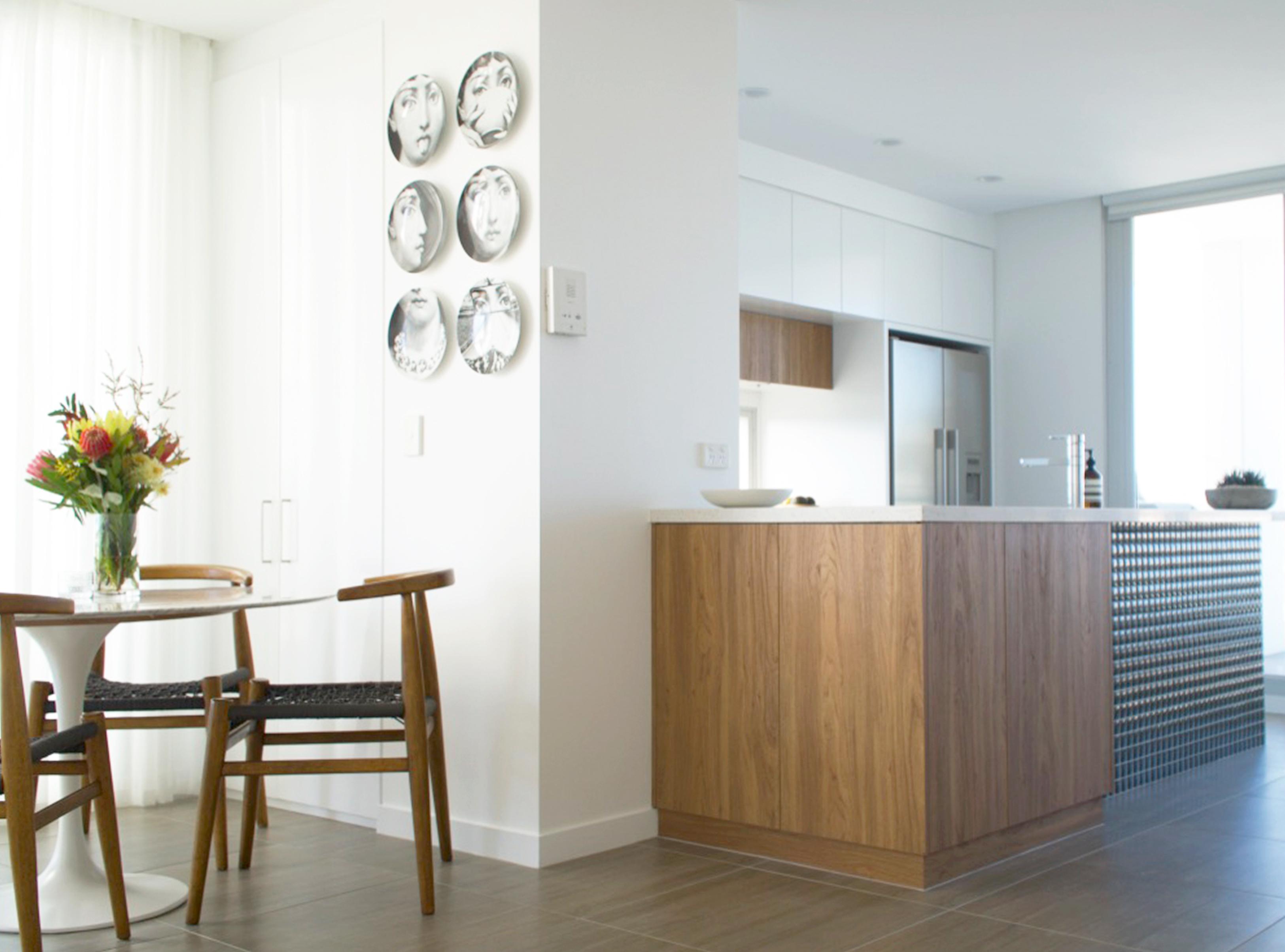 Brisbane custom joinery design, DbyD, kitchen renovation, feature tiles