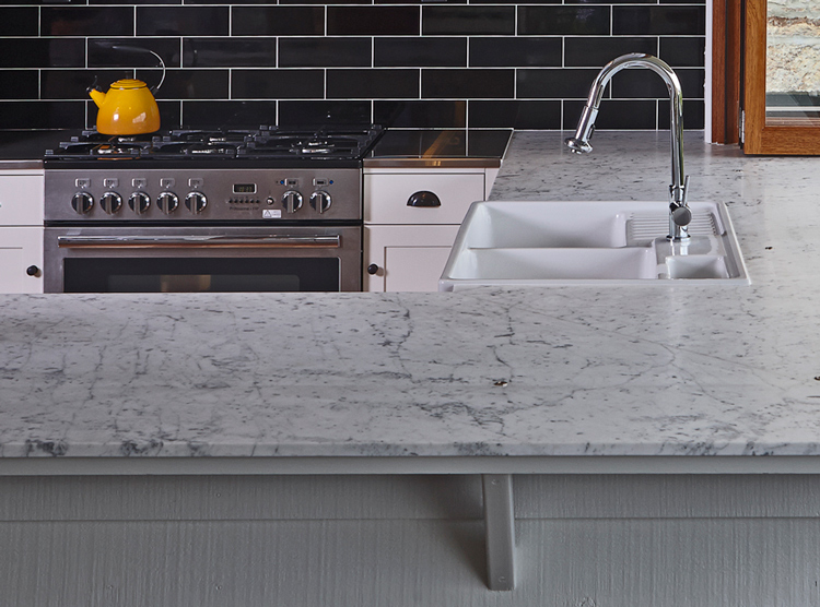 caring for stone, marble benchtop, DbyD kitchen